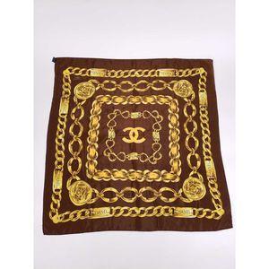 CHANEL Vintage 31 Rue Cambon Chain Silk Scarf